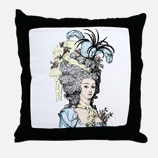 French Aristocrat (pastel) Throw Pillow