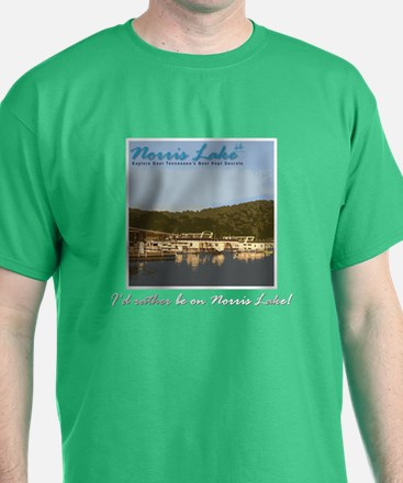 Norris Lake I'd rather be T-Shirt