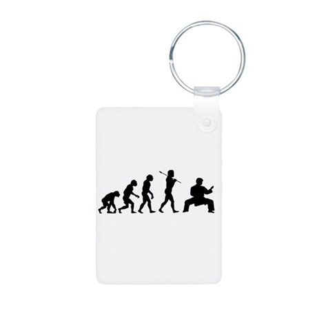 Karate Evolution Aluminum Photo Keychain