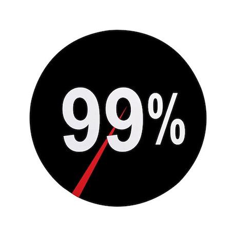 "99 Percent Pie Chart: 3.5"" Button"