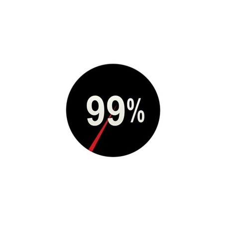 99 Percent Pie Chart: Mini Button (10 pack)