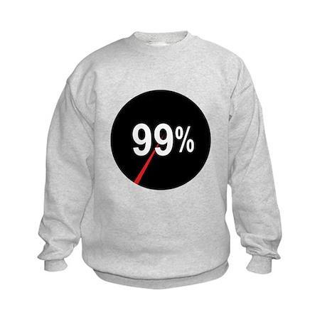 99 Percent Pie Chart: Kids Sweatshirt