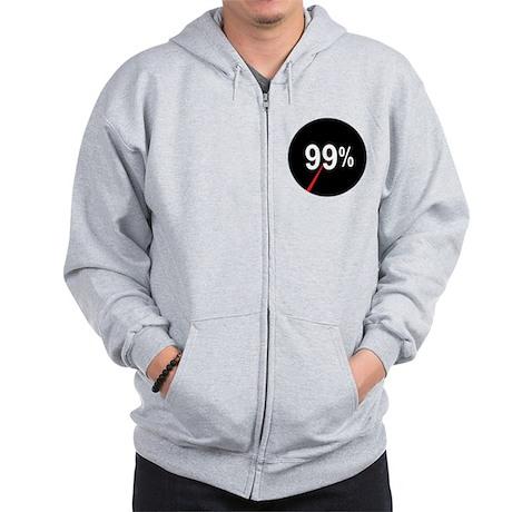 99 Percent Pie Chart: Zip Hoodie