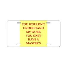 funny genius jokes Aluminum License Plate