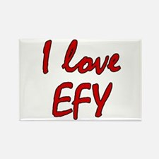 I love EFY Rectangle Magnet