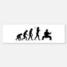 Karate Evolution Bumper Bumper Sticker