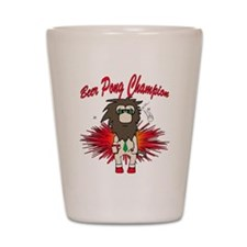 Cave man beer pong Shot Glass