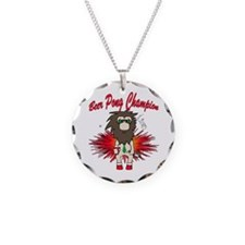 Cave man beer pong Necklace