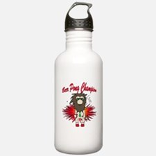 Cave man beer pong Water Bottle