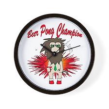 Cave man beer pong Wall Clock