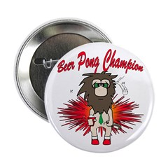 """Cave man beer pong 2.25"""" Button"""