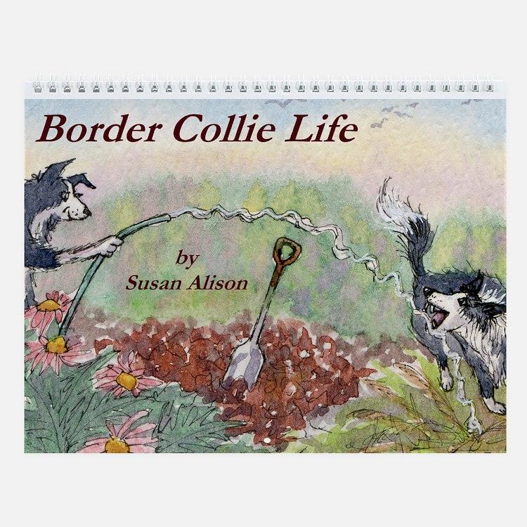 Border Collie Life Wall Calendar