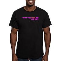 WTF Men's Fitted T-Shirt (dark)