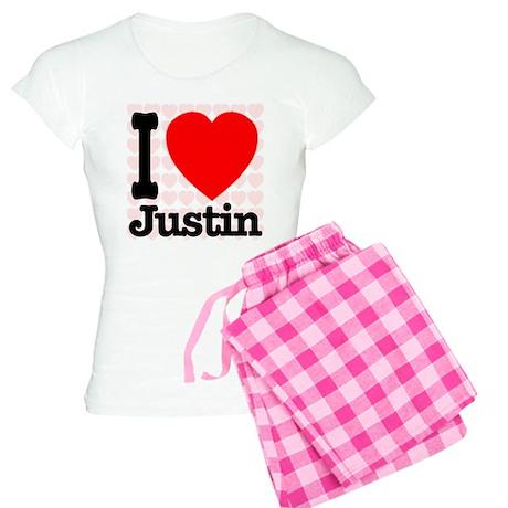 I Love Justin Women's Light Pajamas