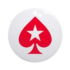 PokerStars Christmas Star Ornament (Round)