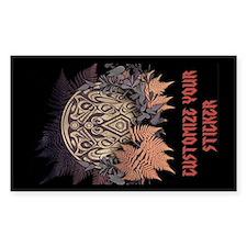 Wolf Crest Sticker (Rectangle)