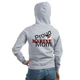 Proud marine mom Zip Hoodies