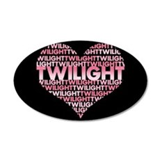 Twilight Heart 22x14 Oval Wall Peel