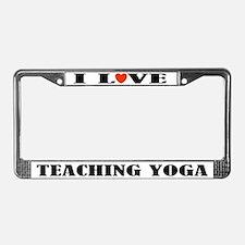 Yoga Instructor License Plate Frame