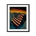 Patriot Mountain Framed Panel Print
