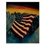 Patriot Mountain Small Poster