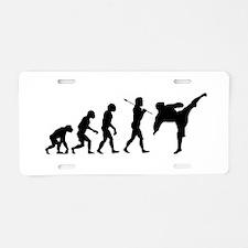 Evolve - Karate Kick Aluminum License Plate