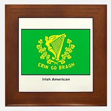 Irish American Flag Framed Tile