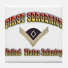First Sergeant Tile Coaster