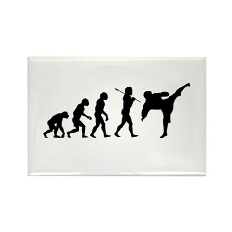 Evolve - Karate Kick Rectangle Magnet
