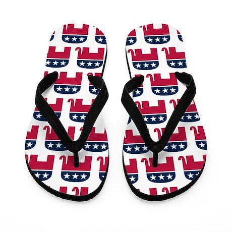 Repulican Elephant Flip Flops