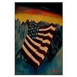 Patriot Mountain Large Poster