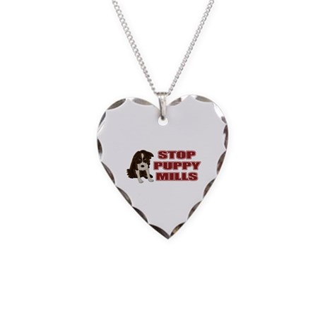 Stop Puppy Mills Necklace Heart Charm
