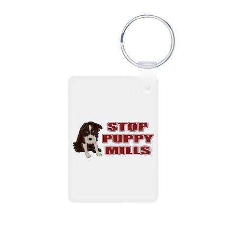 Stop Puppy Mills Aluminum Photo Keychain