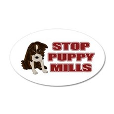Stop Puppy Mills 22x14 Oval Wall Peel