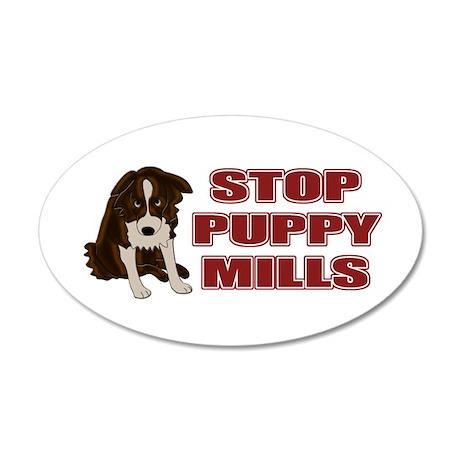 Stop Puppy Mills 22x14 Oval Wall Peel