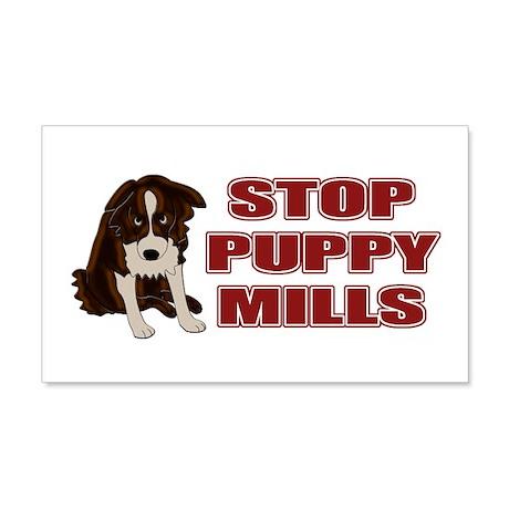 Stop Puppy Mills 22x14 Wall Peel