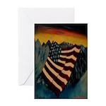 Patriot Mountain Greeting Card