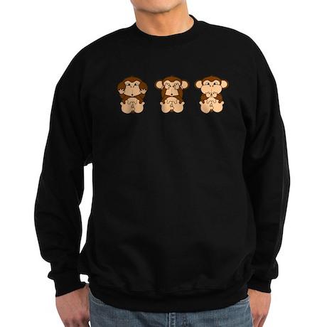 Monkey Hear, See, Speak No Evil Sweatshirt (dark)