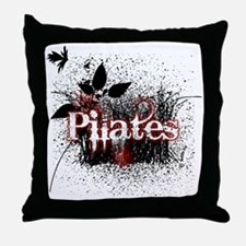 PIlates Leaves of Grass by Svelte.biz Throw Pillow