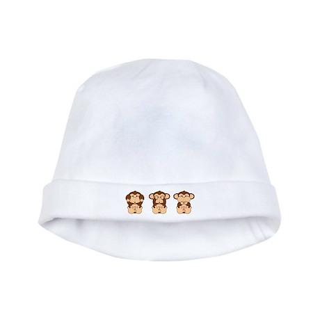 Hear, See, Speak No Evil baby hat