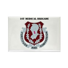 DUI - 1st Medical Bde with Text Rectangle Magnet