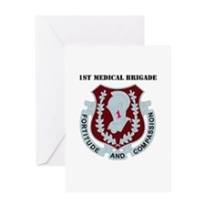 DUI - 1st Medical Bde with Text Greeting Card