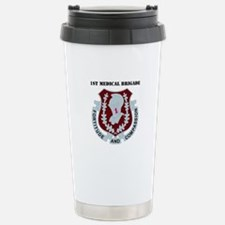 DUI - 1st Medical Bde with Text Travel Mug