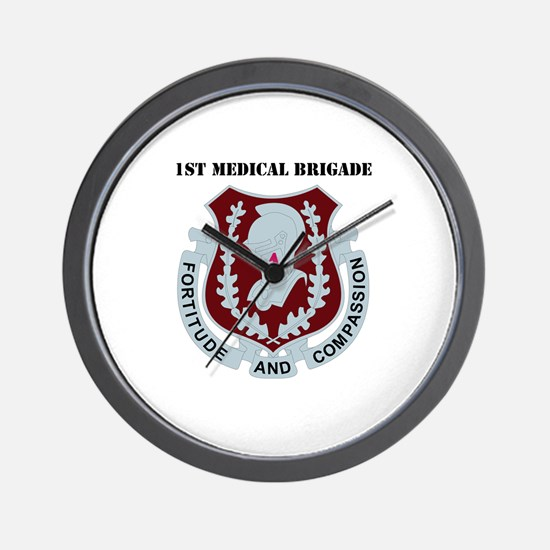 DUI - 1st Medical Bde with Text Wall Clock