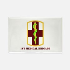 SSI - 1st Medical Bde with Text Rectangle Magnet