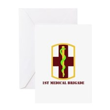 SSI - 1st Medical Bde with Text Greeting Card