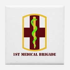 SSI - 1st Medical Bde with Text Tile Coaster
