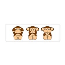 Hear, See, Speak No Evil Car Magnet 10 x 3