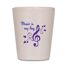 Music is my bag Shot Glass