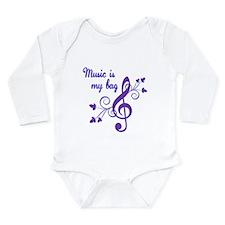 Music is my bag Long Sleeve Infant Bodysuit